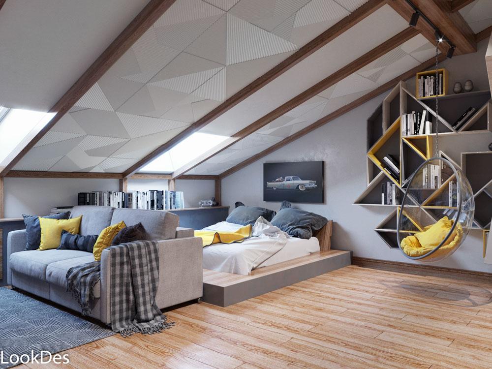 Дизайн-проект частного дома, 3 этаж