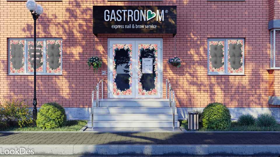 Gastronom Tver, 2 вариант, визуализация маникюрных кабинетов