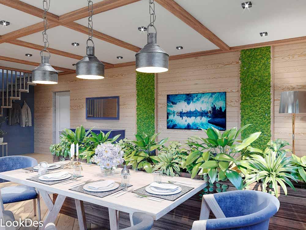Проект загородного дома Эко-Cтиль