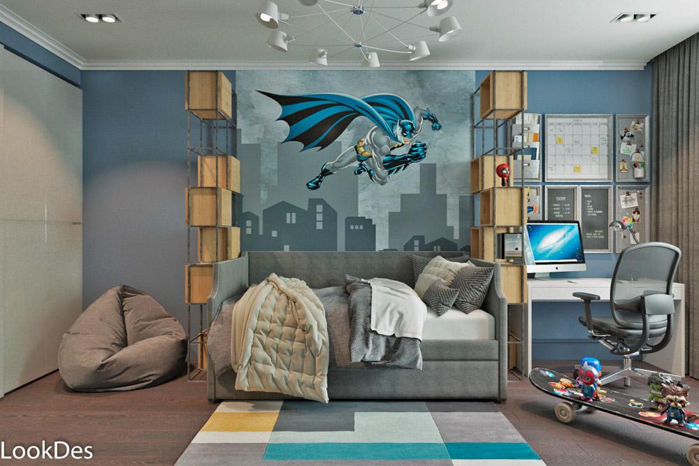 Детская комната, существующая кухня с преображением комнаты и добавлением обеденной зоны
