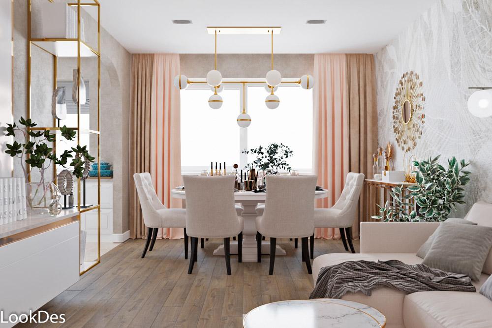 Проект 3-х комнатной квартиры на ул. Тургенева