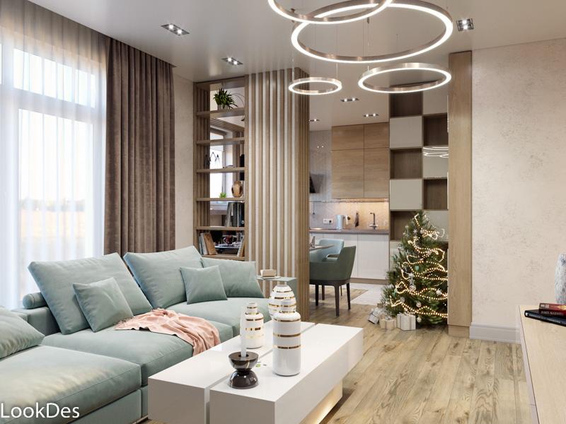 Частная квартира в современном стиле с элементами лёгкой Скандинавии