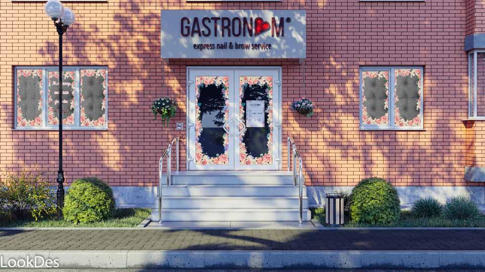 Gastronom Tver 1 вариант, визуализация маникюрных кабинетов