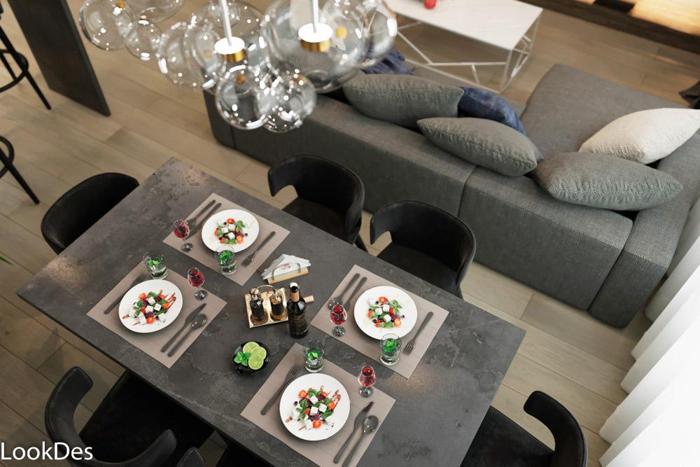 Дизайн проект кухни-гостиной на Затверецкой набережной