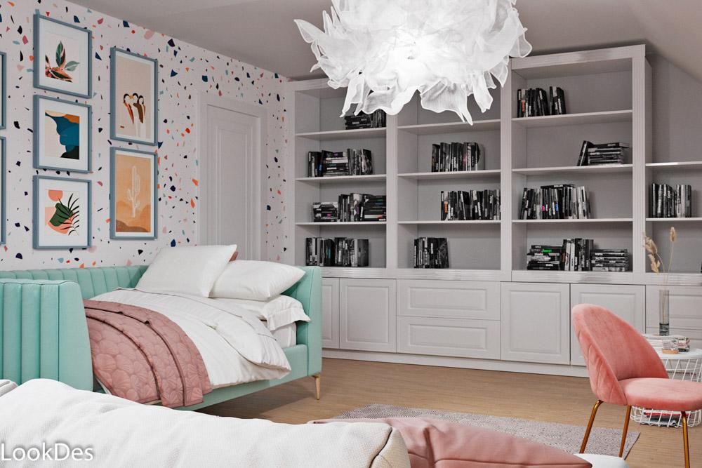 Комната девочки-подростка, вариант 1