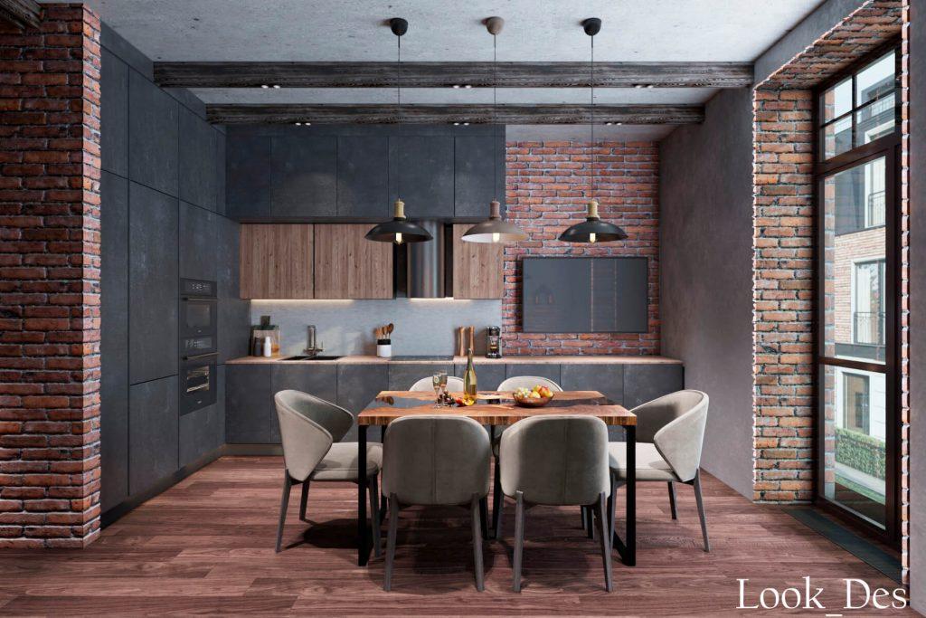 ЖК Резиденция, дизайн-проект в стиле лофт